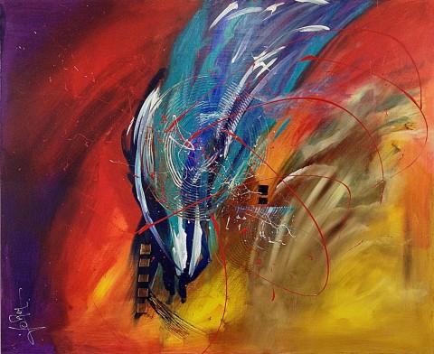 Acrylique sur toile / 0.80 x 1.00