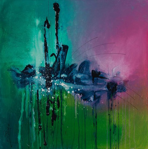 Acrylique sur toile / 0.60 x 0.60